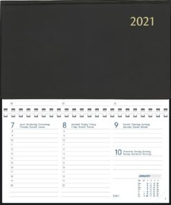 Agenda Novoplan spiraal zwart 2021