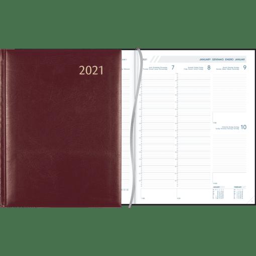 Agenda Plan-a-week gebonden bordeaux 2021
