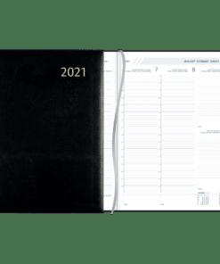 Agenda Plan-a-week gebonden 2021 zwart
