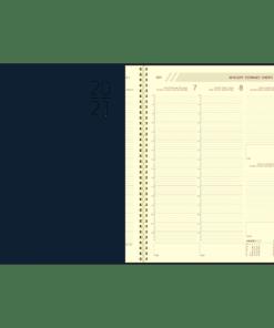 Agenda Plan-a-week spiraal blauw 2021