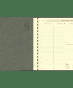 Agenda Plan-a-week spiraal grijs 2021