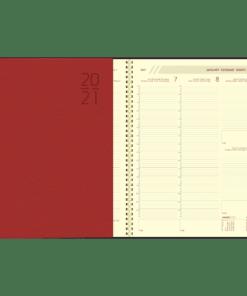 Agenda Plan-a-week spiraal rood 2021