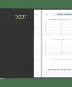 Agenda Visuplan gebonden Zwart 2021
