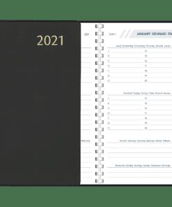 Agenda Visuplan spiraal Zwart 2021