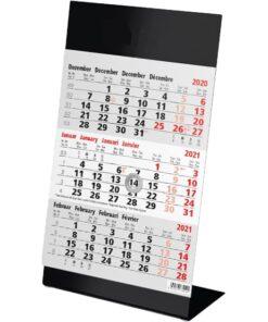 Kantoorkalender 3-maand Color zwart 2021