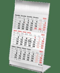 Kantoorkalender 3-maand Steel 2021