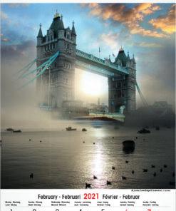 Muurkalender Architecture & Nature 2021 februari