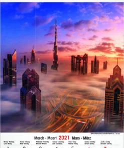 Muurkalender Architecture & Nature 2021 maart