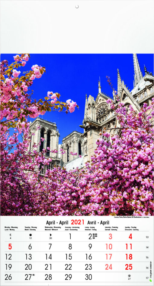 Muurkalender Architecture & Nature 2021 april