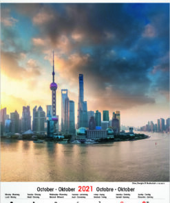 Muurkalender Architecture & Nature 2021 oktober