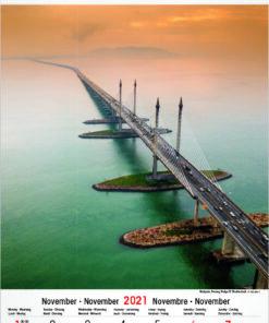 Muurkalender Architecture & Nature 2021 november