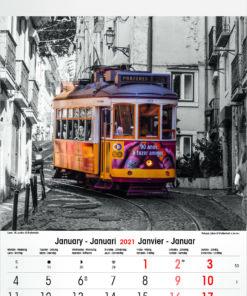 Muurkalender Typics 2021 Januari