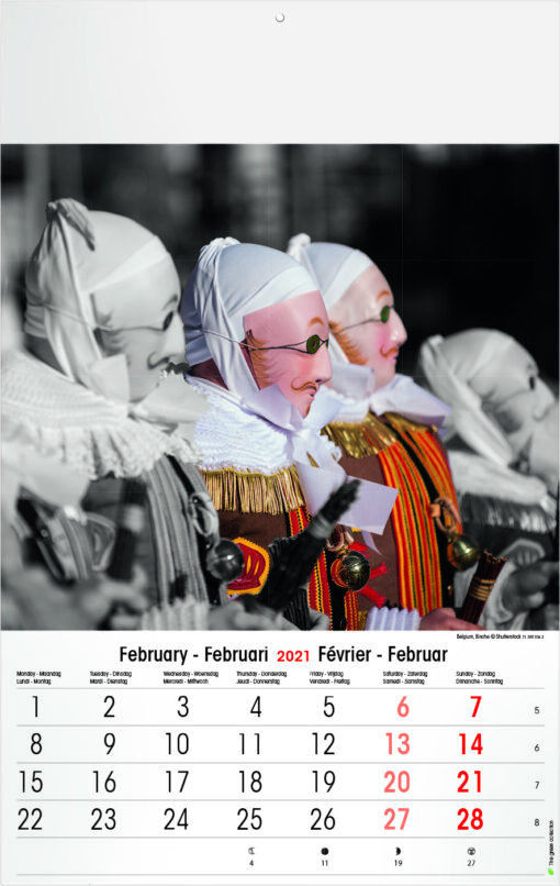 Muurkalender Typics 2021 Februari