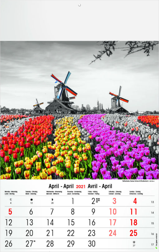 Muurkalender Typics 2021 April