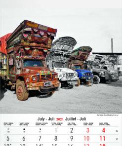Muurkalender Typics 2021 Juli