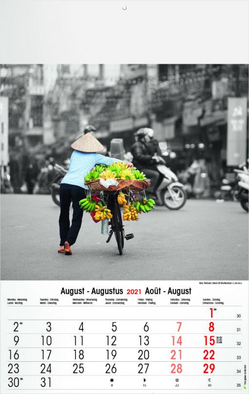 Muurkalender Typics 2021 Augustus