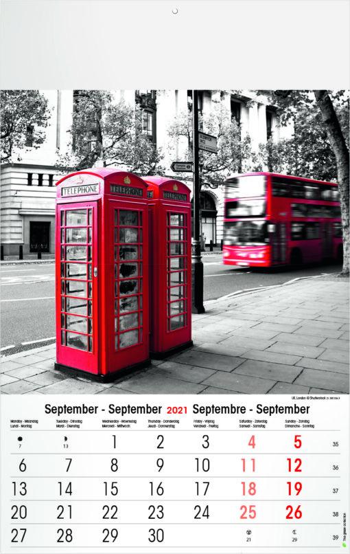 Muurkalender Typics 2021 September