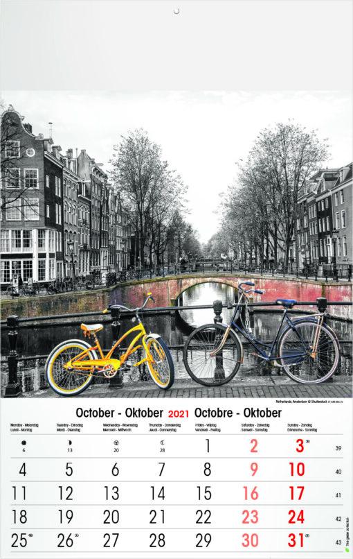 Muurkalender Typics 2021 Oktober