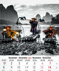 Muurkalender Typics 2021 November
