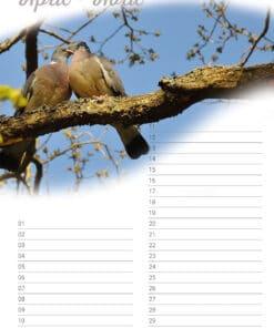 Verjaardagskalender 'Animals in Love' April