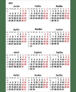 Kalenderposter 2021 Belgium