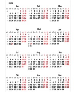 Kalenderposter 2021 Nederland