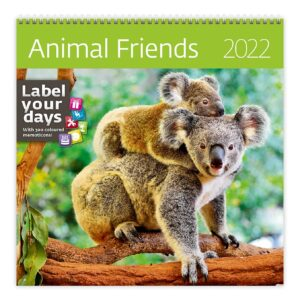 Muurkalender Animal Friends 2022
