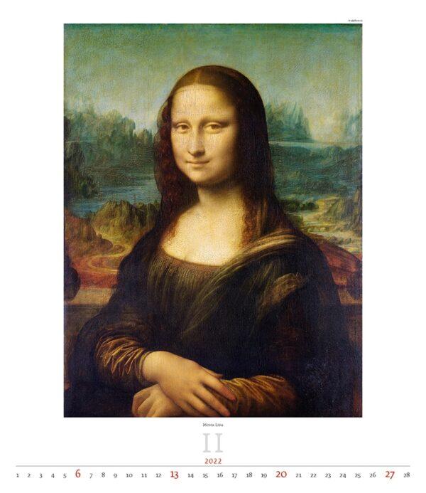 Kunstkalender Leonardo da Vinci 2022 Februari
