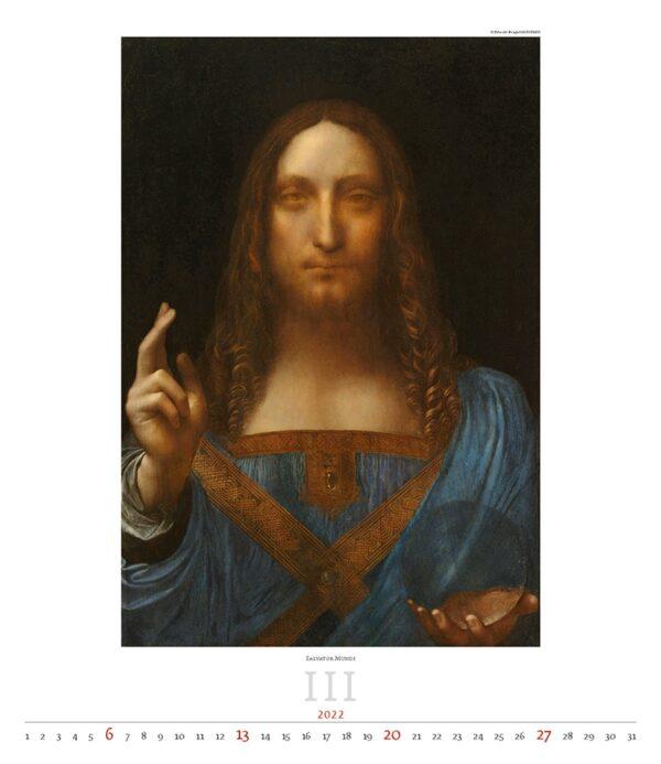 Kunstkalender Leonardo da Vinci 2022 Maart