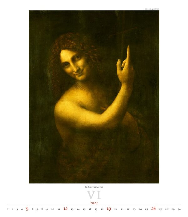 Kunstkalender Leonardo da Vinci 2022 Juni