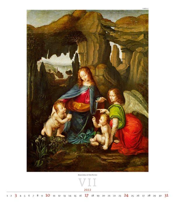 Kunstkalender Leonardo da Vinci 2022 Juli