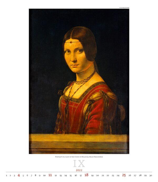 Kunstkalender Leonardo da Vinci 2022 September