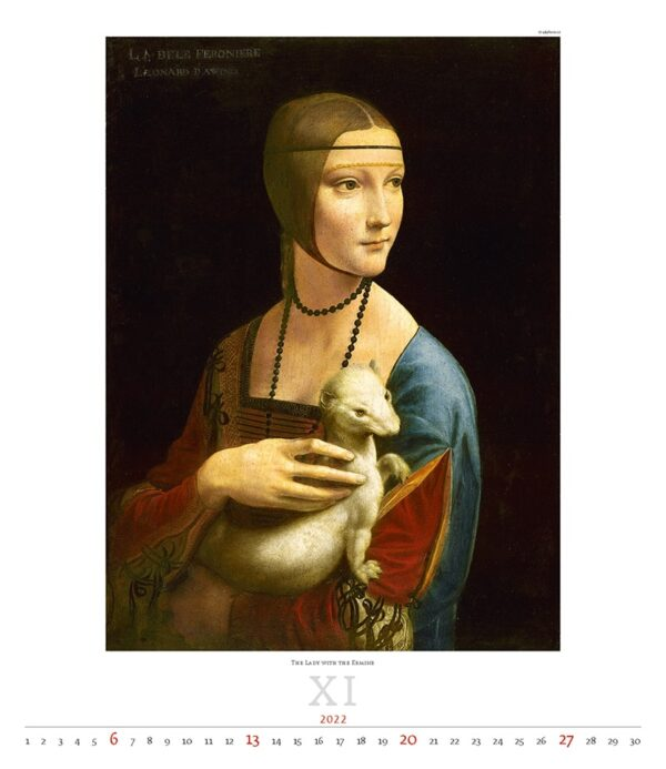 Kunstkalender Leonardo da Vinci 2022 November