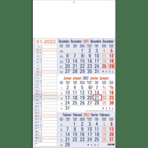 3-maandkalender 2022 Memo blauw