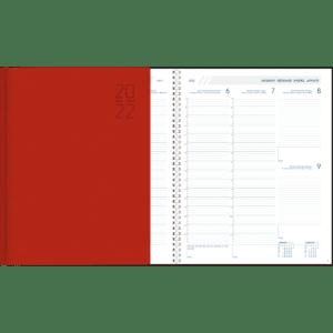 Plan-a-week Spiraal 2022 rood