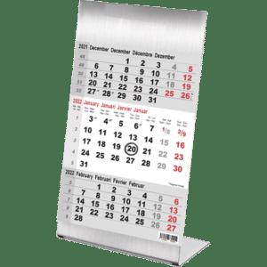 Kantoorkalender 3 maand Steel 2022